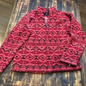 Southern Marsh red Aztec pullover, sz M